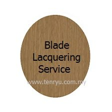 Lacquering (per blade) :For blade protection & to avoid blade from splintered when removing rubber in future.