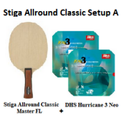 Stiga & DHS - Stiga Allround Classic with DHS Hurricane 3 Neo (Online Purchase Only)