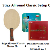 Stiga & DHS - Stiga Allround Classic with DHS Hurricane 3 Neo & DHS Gold Arc 5 (Online Purchase Only)
