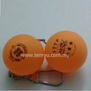 Table Tennis Ball Keychain